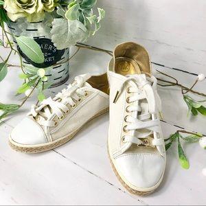 Michael Korz White/Cream Sneakers ( Women's Sz 5.5